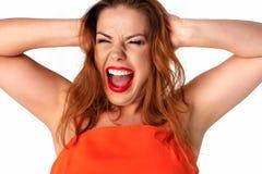 εκφραστική γυναίκα πορτρέτου στοκ φωτογραφίες