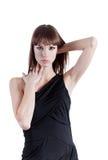 Εκφραστική γυναίκα στο κομψό φόρεμα Στοκ Εικόνα