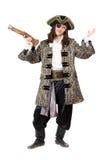 Εκφραστικός πειρατής με ένα πιστόλι στοκ εικόνες με δικαίωμα ελεύθερης χρήσης