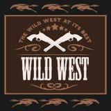 Εκλεκτής ποιότητας άγρια δυτική αφίσα με τα διασχισμένα πουλάρια ελεύθερη απεικόνιση δικαιώματος