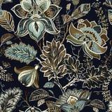 Εκλεκτής ποιότητας άνευ ραφής σχέδιο λουλουδιών στο ύφος της Προβηγκίας Στοκ Εικόνα