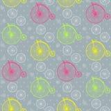 Εκλεκτής ποιότητας άνευ ραφής σχέδιο ποδηλάτων Στοκ εικόνες με δικαίωμα ελεύθερης χρήσης