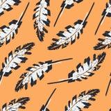Εκλεκτής ποιότητας άνευ ραφής σχέδιο φτερών Στοκ εικόνα με δικαίωμα ελεύθερης χρήσης