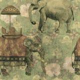 Εκλεκτής ποιότητας άνευ ραφής σχέδιο ύφους grunge με Ινδό Στοκ εικόνες με δικαίωμα ελεύθερης χρήσης