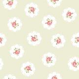 Εκλεκτής ποιότητας άνευ ραφής floral σχέδιο Στοκ Εικόνες