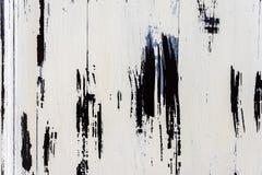 Εκλεκτής ποιότητας άσπρες και μαύρες shabby χρωματισμένες παλαιές ξύλινες σανίδες με τις ρωγμές και τις γρατσουνιές για το φυσικό Στοκ Εικόνες