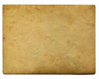 Εκλεκτής ποιότητας έγγραφο γήρανσης με το διάστημα για το κείμενο που απομονώνεται στο λευκό Στοκ Φωτογραφία