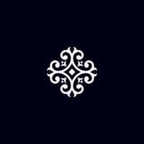 Εκλεκτής ποιότητας έμβλημα λουλουδιών Στοκ Φωτογραφίες