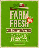 Εκλεκτής ποιότητας αγροτική φρέσκια αφίσα. Στοκ Εικόνες