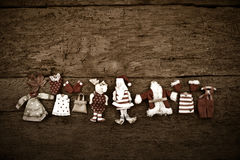 Εκλεκτής ποιότητας αγροτικό υπόβαθρο Χριστουγέννων Άγιου Βασίλη Στοκ Εικόνες