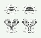 Εκλεκτής ποιότητας αθλητικό λογότυπο, έμβλημα, διακριτικό, ετικέτα ή σημάδι αντισφαίρισης Στοκ Εικόνα