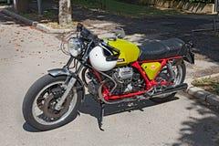 Εκλεκτής ποιότητας αθλητισμός Moto Guzzi V7 Στοκ φωτογραφία με δικαίωμα ελεύθερης χρήσης