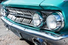 Εκλεκτής ποιότητας αμερικανική μπροστινή λεπτομέρεια αυτοκινήτων Στοκ Φωτογραφία