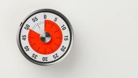 Εκλεκτής ποιότητας αναλογικό χρονόμετρο αντίστροφης μέτρησης κουζινών, παραμονή 50 λεπτών Στοκ φωτογραφία με δικαίωμα ελεύθερης χρήσης