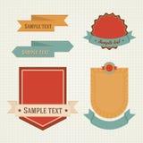 Εκλεκτής ποιότητας, αναδρομικά επίπεδα διακριτικά, ετικέτες καθορισμένες απεικόνιση αποθεμάτων