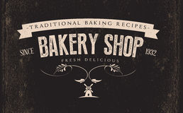 Εκλεκτής ποιότητας αναδρομική ετικέτα αρτοποιείων Στοκ Εικόνες