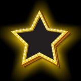 Εκλεκτής ποιότητας αναδρομικό αστέρι με τα φω'τα απεικόνιση αποθεμάτων