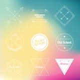 Εκλεκτής ποιότητας αναδρομικό εικονίδιο λογότυπων Hipster Στοκ Εικόνα