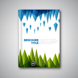 Εκλεκτής ποιότητας αναδρομικό διανυσματικό αφηρημένο φυλλάδιο, βιβλίο, σχέδιο ιπτάμενων templ Στοκ Φωτογραφία