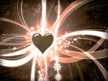 Εκλεκτής ποιότητας αναδρομικό υπόβαθρο καρδιών αγάπης Στοκ εικόνα με δικαίωμα ελεύθερης χρήσης