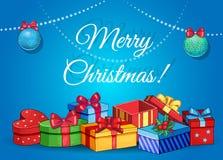 Εκλεκτής ποιότητας αναδρομικό backgound Χαρούμενα Χριστούγεννας Στοκ φωτογραφία με δικαίωμα ελεύθερης χρήσης