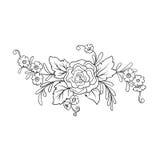 Εκλεκτής ποιότητας ανθοδέσμη ή σχέδιο λουλουδιών περιλήψεων Στοκ εικόνες με δικαίωμα ελεύθερης χρήσης