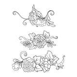 Εκλεκτής ποιότητας ανθοδέσμη ή σχέδιο λουλουδιών περιλήψεων Στοκ Εικόνα
