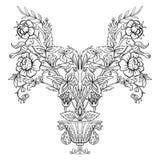 Εκλεκτής ποιότητας ανθοδέσμη ή σχέδιο λουλουδιών περιλήψεων Στοκ Φωτογραφία