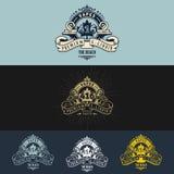 Εκλεκτής ποιότητας απεικόνιση σχεδίου λογότυπων Vape Στοκ εικόνα με δικαίωμα ελεύθερης χρήσης