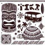 Εκλεκτής ποιότητας απεικόνιση Aloha Tiki Στοκ Φωτογραφία