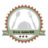 Εκλεκτής ποιότητας απεικόνιση Bon Appetit Poster επίσης corel σύρετε το διάνυσμα απεικόνισης Στοκ Φωτογραφία