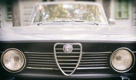 Εκλεκτής ποιότητας αυτοκίνητο της Alfa Romeo Ιταλικό εμπορικό σήμα Στοκ Εικόνες