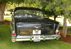 Εκλεκτής ποιότητας αυτοκίνητο 1957 Chevrolet Hardtop Coupe Στοκ Εικόνες