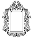 Εκλεκτής ποιότητας αυτοκρατορικό μπαρόκ πλαίσιο καθρεφτών Στοκ Φωτογραφία