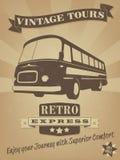Εκλεκτής ποιότητας αφίσα διαφήμισης λεωφορείων αναδρομική Στοκ Εικόνες