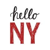 Εκλεκτής ποιότητας αφίσα με το απόσπασμα γειά σου Νέα Υόρκη Στοκ φωτογραφία με δικαίωμα ελεύθερης χρήσης