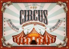 Εκλεκτής ποιότητας αφίσα τσίρκων με τη μεγάλη κορυφή Στοκ φωτογραφίες με δικαίωμα ελεύθερης χρήσης