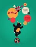 Εκλεκτής ποιότητας αφίσα τσίρκων, υπόβαθρο με την αρκούδα, διασκέδαση Στοκ Εικόνες