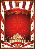 Εκλεκτής ποιότητας αφίσα τσίρκων Χριστουγέννων Στοκ φωτογραφία με δικαίωμα ελεύθερης χρήσης