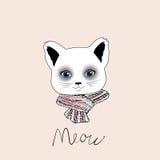 Εκλεκτής ποιότητας αφίσα τυπογραφίας με τη μοντέρνη γάτα Στοκ εικόνα με δικαίωμα ελεύθερης χρήσης