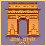 Εκλεκτής ποιότητας αφίσα Arc de Triomphe στο διάσημο inFrance μνημείων του Παρισιού Στοκ Φωτογραφία