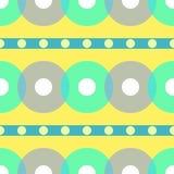 Εκλεκτής ποιότητας αφηρημένο άνευ ραφής σχέδιο. Κύκλος. Διανυσματική απεικόνιση Στοκ Εικόνα