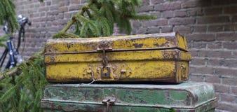 Εκλεκτής ποιότητας βαλίτσες Στοκ φωτογραφίες με δικαίωμα ελεύθερης χρήσης
