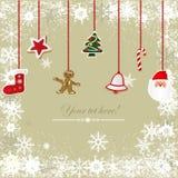Εκλεκτής ποιότητας, βρώμικο υπόβαθρο Χριστουγέννων Στοκ εικόνα με δικαίωμα ελεύθερης χρήσης