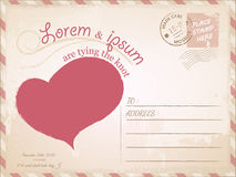 Εκλεκτής ποιότητας γαμήλια πρόσκληση καρτών Στοκ φωτογραφία με δικαίωμα ελεύθερης χρήσης