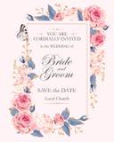 Εκλεκτής ποιότητας γαμήλια πρόσκληση απεικόνιση αποθεμάτων