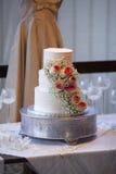 Εκλεκτής ποιότητας γαμήλιο κέικ Στοκ Εικόνες