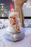 Εκλεκτής ποιότητας γαμήλιο κέικ Στοκ Φωτογραφίες