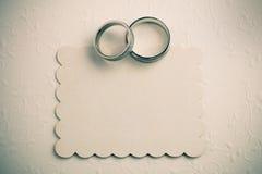 Εκλεκτής ποιότητας γαμήλιο υπόβαθρο - προσκαλέστε το σχέδιο καρτών Στοκ Εικόνα
