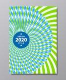 Εκλεκτής ποιότητας γεωμετρική αφηρημένη αφίσα ύφους Στοκ Εικόνες